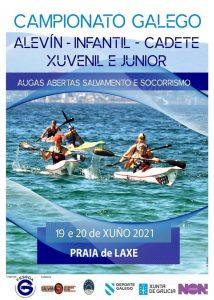 Campionato galego alevín, infantil, cadete, xuvenil e junior Augas Abertas Salvamento e Socorrismo